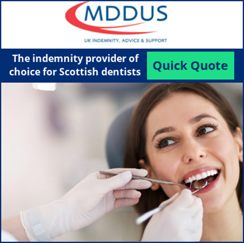 MDDUS, the indemnity provider of choice for Scottish dentists